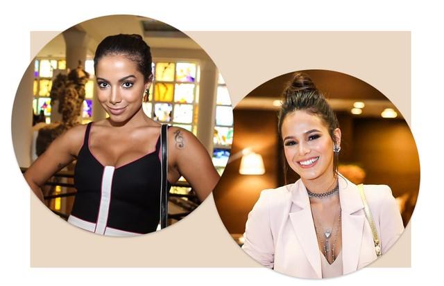 Anitta e Bruna Marquezine (Foto: Divulgação/ Maxim Sapozhnikov/Fashiontomax.com e Lu Prezia)