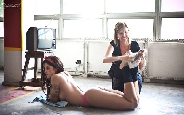 Making of - Aline Riscado posa para o Paparazzo (Foto: Márcio Nunes / Paparazzo)