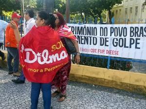 Manifestação no Recife (Foto: Katherine Coutinho/G1)