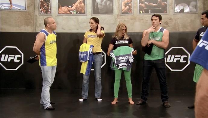 Wanderlei Silva e Chael Sonnen TUF Brasil 3 (Foto: Reprodução/ TUF Brasil 3)