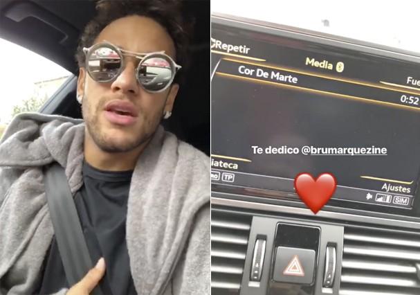 Neymar dedica música para Marquezine (Foto: Instagram/Reprodução)
