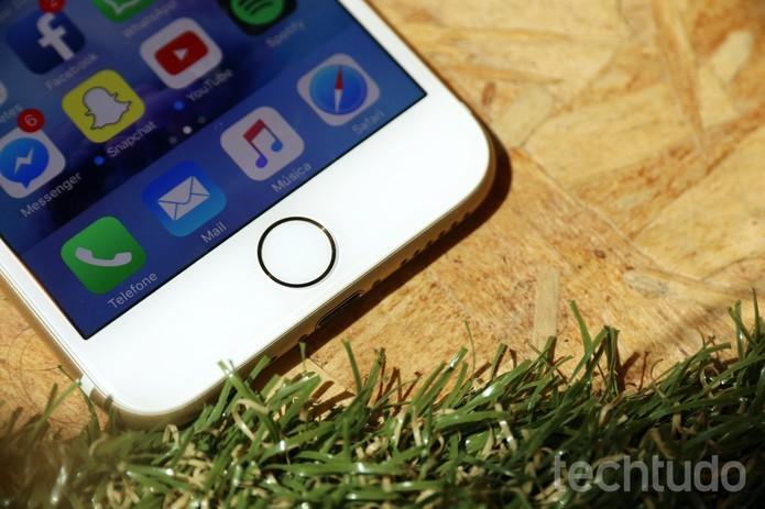 Botão home do iPhone 7 com sensor de impressão digital (Foto: Anna Kellen Bull/TechTudo) (Foto: Botão home do iPhone 7 com sensor de impressão digital (Foto: Anna Kellen Bull/TechTudo))