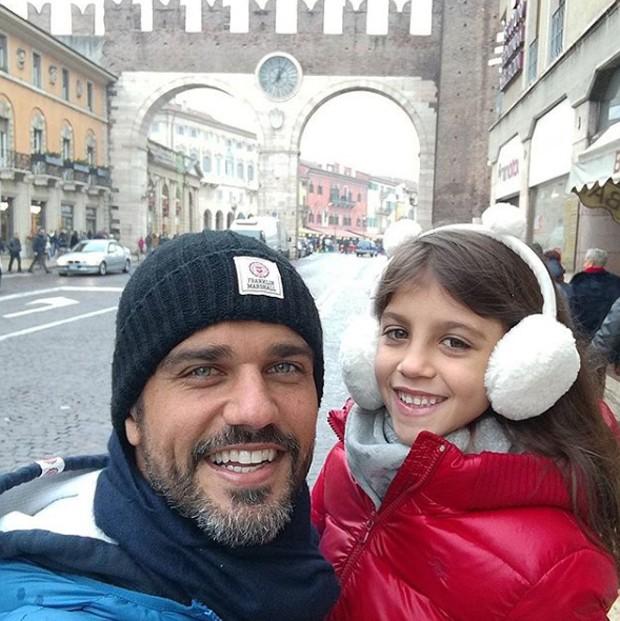 Bruno Cabrerizo e Gaia (Foto: Reprodução/Instagram)