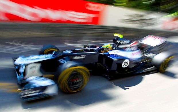 Bruno Senna no treino da F1 em Mônaco (Foto: EFE)