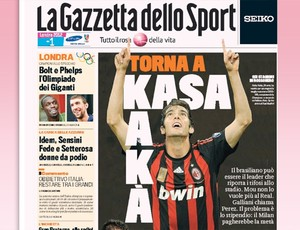 kaka milan jornal (Foto: Reprodução/La Gazzetta dello Sport)
