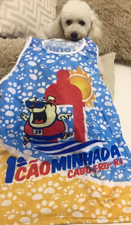 Camisas da Cãominhada estão sendo vendidas por R$ 15 (Foto: Divulgação do evento)