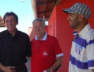 Denô Araújo, Manuel Demócrito e Maia (Auto Esporte) (Foto: Renata Vasconcellos / Globoesporte.com/pb)