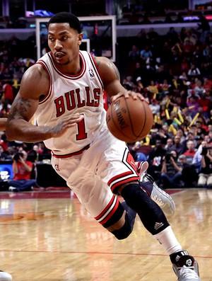 basquete nba derrick rose bulls e george hill pacers (Foto: Agência Reuters)