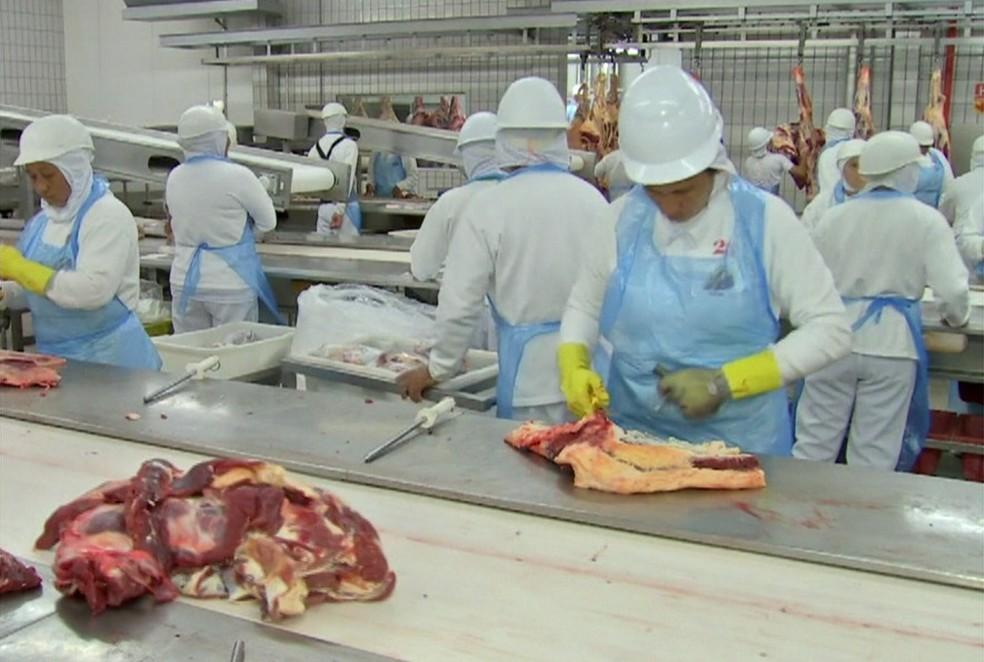 JBS concedeu férias coletivas a funcionários de quatro plantas em Mato Grosso (Foto: Globonews)