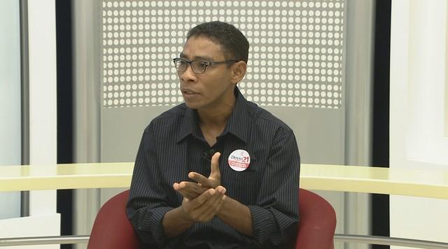 Entrevista do candidato ao governo Décio Gomes, do PCB, ao G1 Amapá