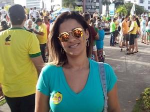 Karine Tenória (Foto: Tassio Andrade/G1)