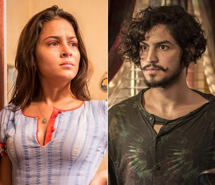 Olívia diz que está namorando e evita Miguel (Foto: Felipe Monteiro/ Inácio Moraes/ Gshow)