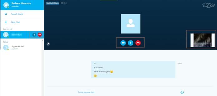 Fazendo ligações com seus contatos do Skype (Foto: Reprodução/Barbara Mannara)     Fazendo ligações com seus contatos do Skype (Foto: Reprodução/Barbara Mannara)