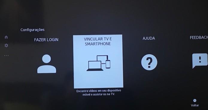 Configurações do app do YouTube na TV (Foto: Reprodução/Helito Bijora)