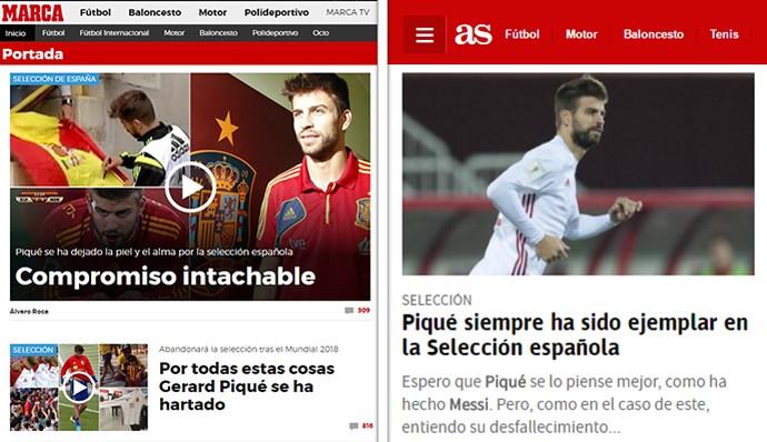 Jornais de Madri se retratam com Piqué e pedem que ele mude de ideia 31d6255e0d3d1