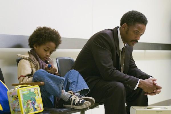 Jaden Smith e Will Smith em À Procura da Felicidade (2006) (Foto: Reprodução)