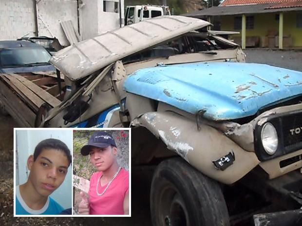 Acidente mata adolescente de 16 (à esquerda) e soldado do Exército em Itajubá. (Foto: Luciano Lopes - TV F5.com / Arquivo pessoal)