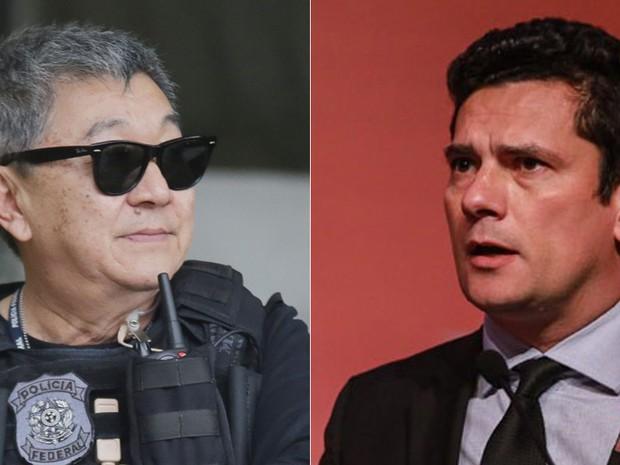 servio moro e Newton Ishii (Foto: Giuliano Gomes/PR Press e Vanessa Carvalho/Brazil Photo Press/Estadão Conteúdo)