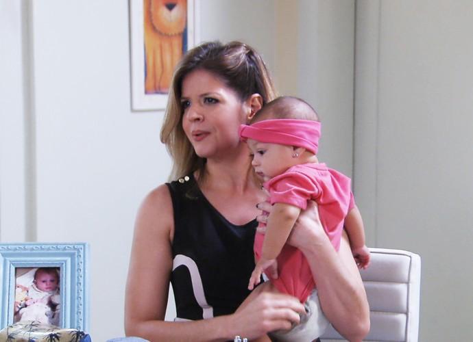 Mariana Santos interpreta uma mãe fitness (Foto: TV Globo)