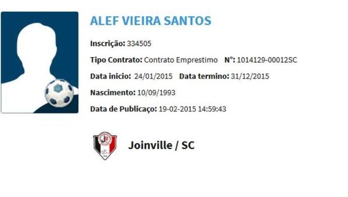 Alef BID Joinville (Foto: Reprodução)