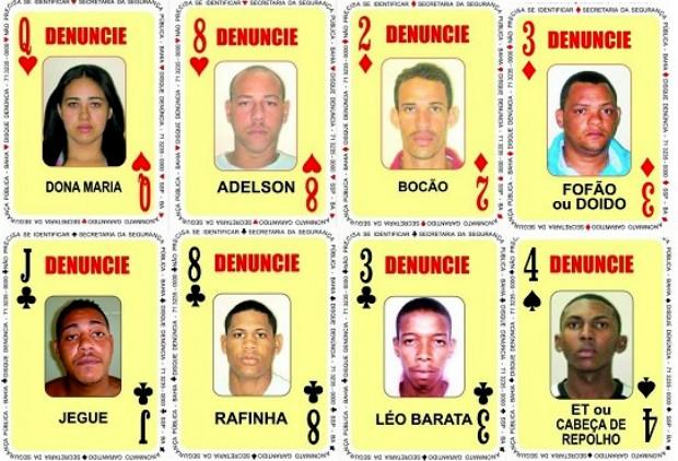 Baralho do Crime ganha oito novos rostos (Foto: Divulgação/SSP-BA)