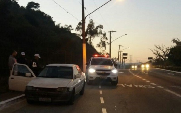 PM apreende carro com mais de R$ 17 milhões de multas na zona leste (Foto: Divulgação Polícia Militar/SP)