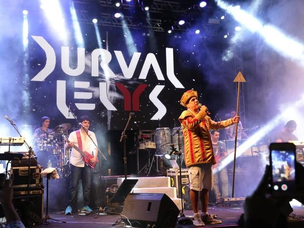 Durval Lelys em show em Salvador, na Bahia (Foto: Denilson Santos/ Ag. News)