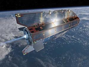 Satélite 'Goce', de uma tonelada, teria se desintegrado ao reentrar na atsmofera da Terra. (Foto: Agência Espacial Europeia  / Via AP Photo)