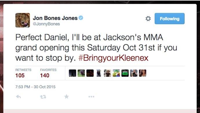 Jon Jones twitter Daniel Cormier