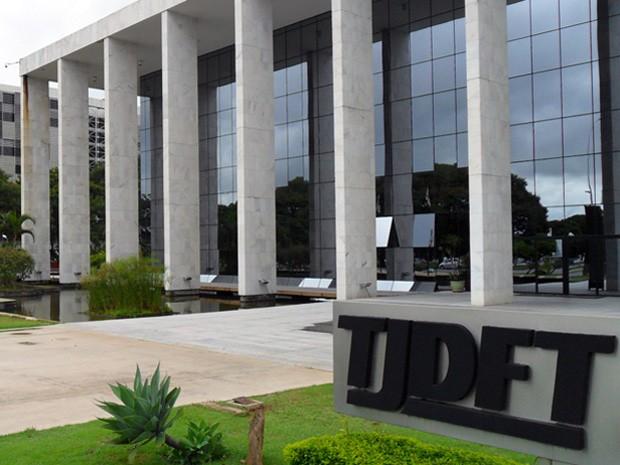 Fachada do Tribunal de Justiça do Distrito Federal (Foto: Raquel Morais/G1)
