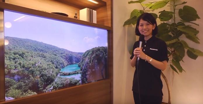 TV OLED transparente tem resolução 4K (Divulgação/Panasonic)