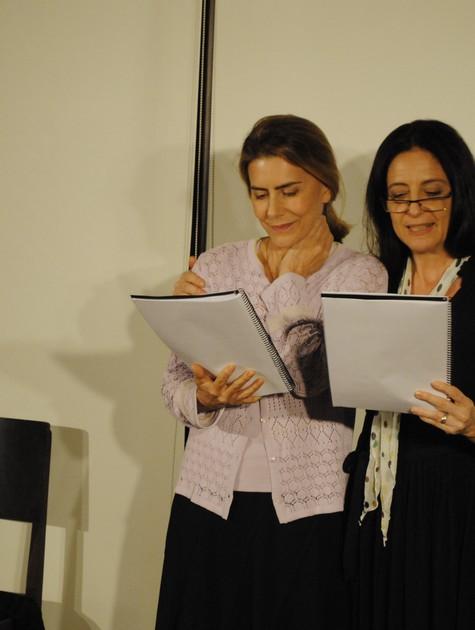 Maitê Proença faz leitura de peça com Clarice Niskier no Midrash Centro Cultural (Foto: Felipe Paiva)