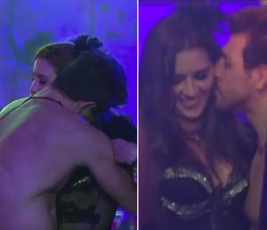 Cézar tentando conquistar Tamires na casa do BBB15 (Foto: TV Globo)