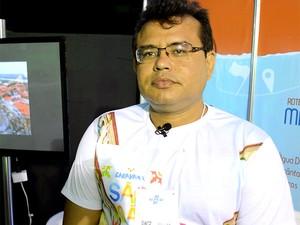 Willian Barbosa, técnico em turismo (Foto: Maurício Araya / G1)