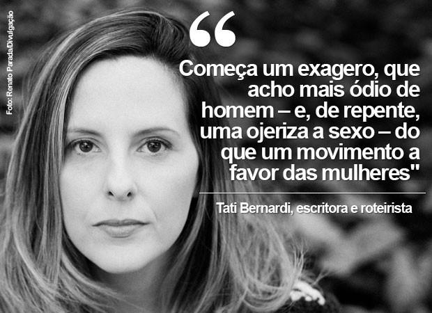 A escritora e roteirista Tati Bernardi (Foto: Renato Parada/Divulgação)