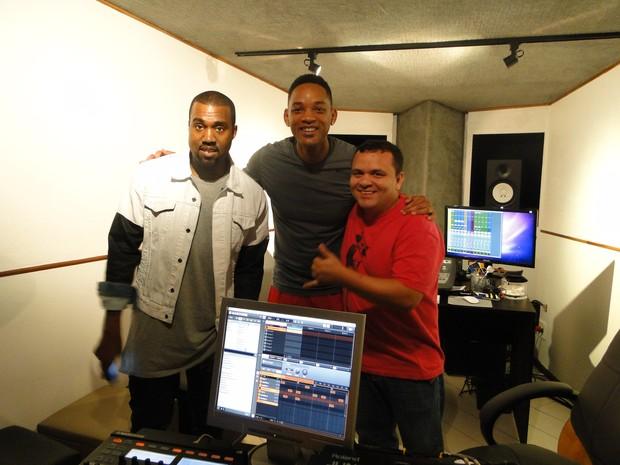 Kanye West, Will Smith e Batuta (Foto: Divulgação)
