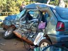 Colisão entre carro e ônibus mata três pessoas em Três Passos, no RS