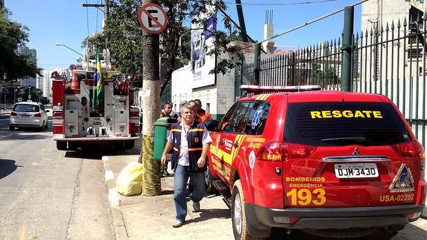 Ambulância Arena Palmeiras acidente (Foto: Felipe Zito)