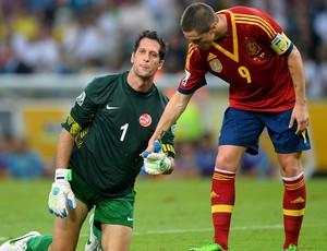 Fernando Torres Mickael Roche, Espanha x Taiti (Foto: Getty Images)