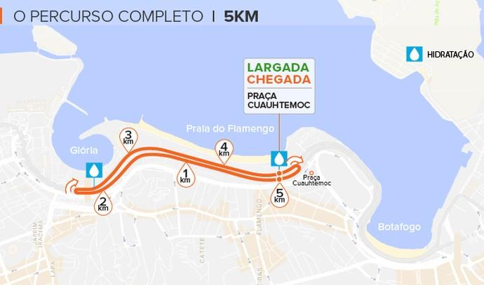 EuAtleta - percurso 5k corrida eu atleta (Foto: Arte Eu Atleta)