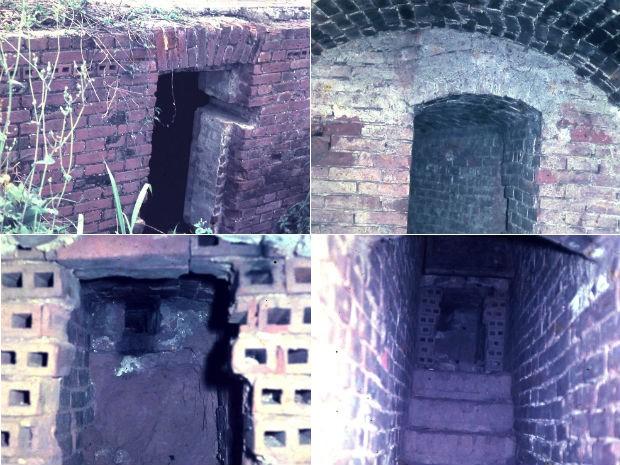 Fotos tiradas em 1960 mostram uma das saídas do tunel onde atualmente está instalado o Bosque Gutierrez, em Curitiba, segundo o pesquisador (Foto: Key Imaguire / Arquivo pessoal)