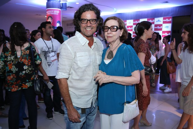Felipe Camargo e Fernanda Montenegro (Foto: Roberto Filho/Brazil News)