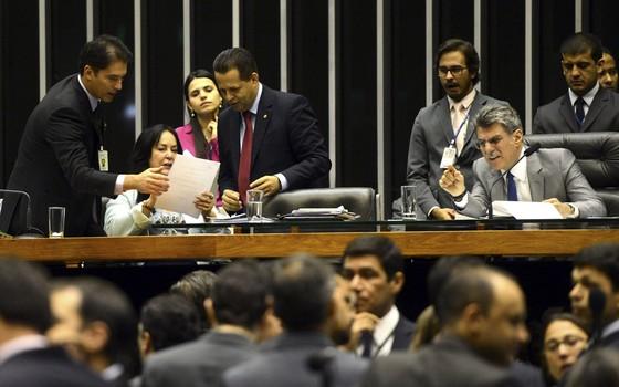 Sessão do Congresso para aprovar Orçamento de 2016 (Foto: Antonio Cruz / Agência Brasil)