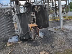 Energisa suspeita de incêndio em transformador (Foto: Walter Paparazzo/G1)