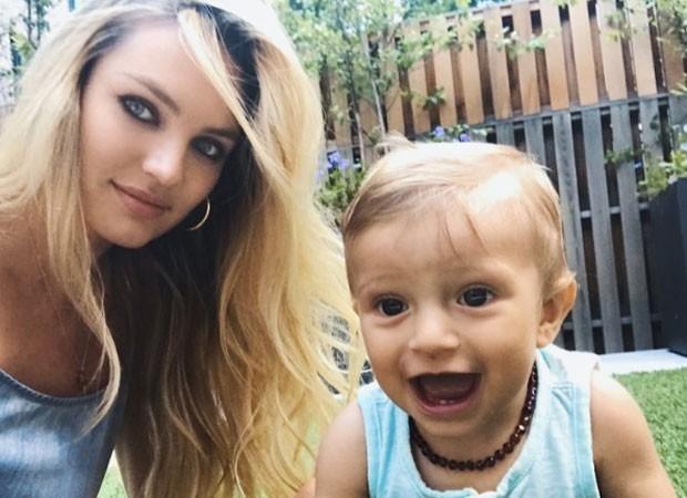 Candice Swanepoel e o filho, Anacã, de 10 meses (Foto: Reprodução/Instagram)