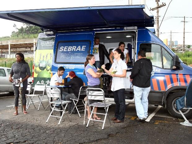 Sebrae Móvel ajuda empresários na Serra da Mantiqueira. (Foto: Divulgação)