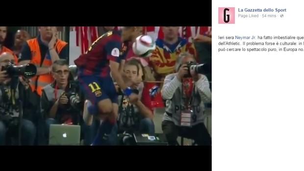 Gazzetta dello Sport fala sobre lance de Neymar