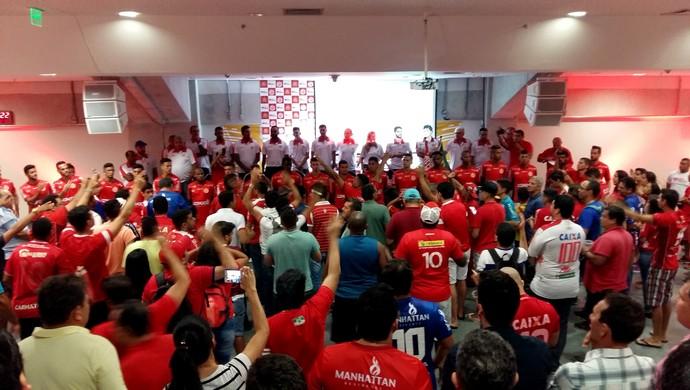 América-RN - evento sócio-torcedor Arena das Dunas (Foto: Jocaff Souza/GloboEsporte.com)