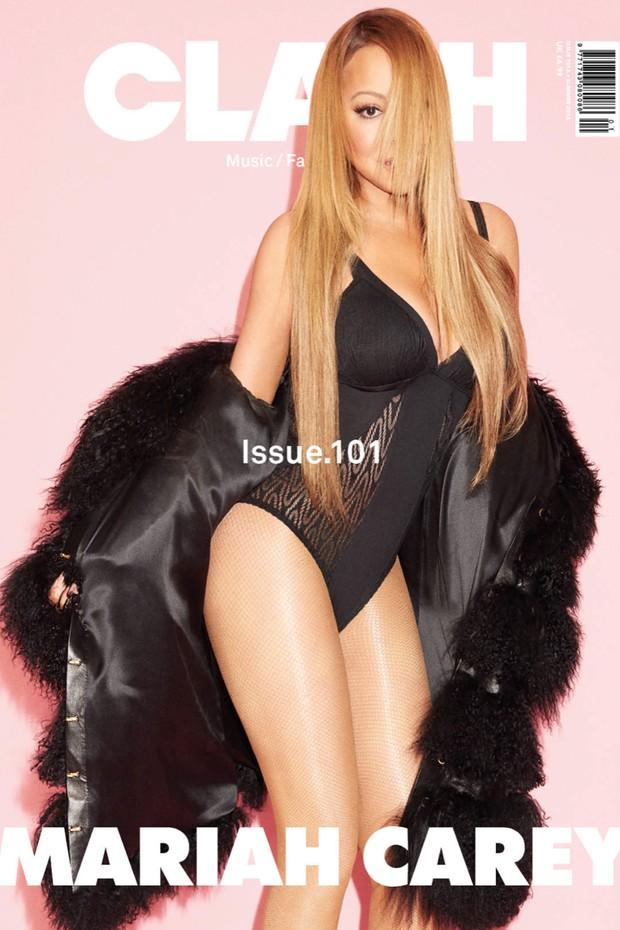 Mariah Carey na capa da Clash Magazine (Foto: Reprodução / Clash Magazine)