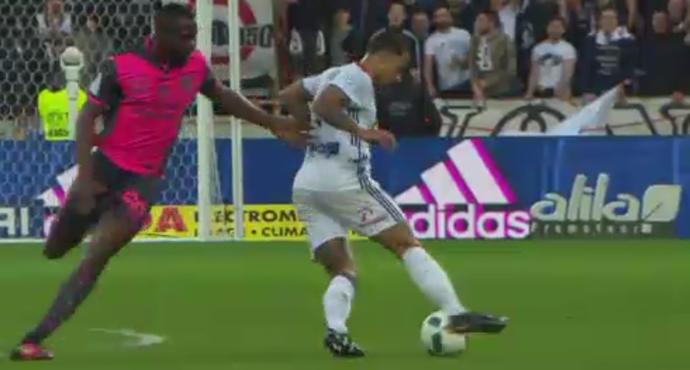 """Depay, do Lyon, vence pintura internacional do """"É Gol!!! (Foto: Reprodução/SporTV)"""